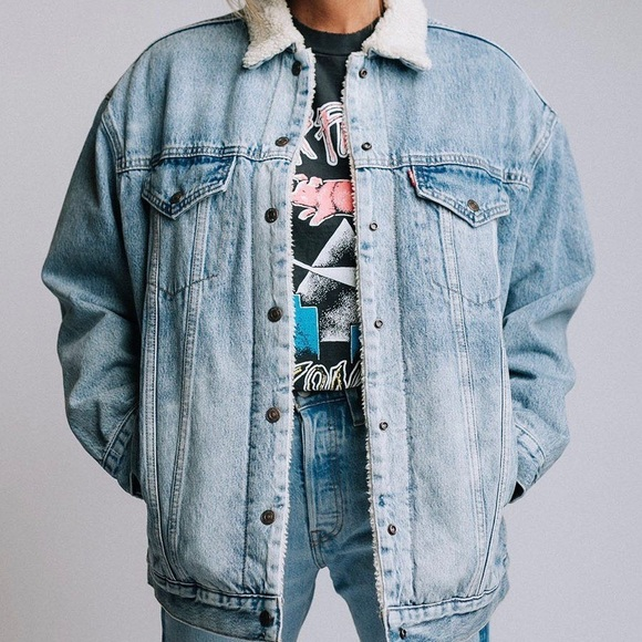 ASOS sherpa denim jacket